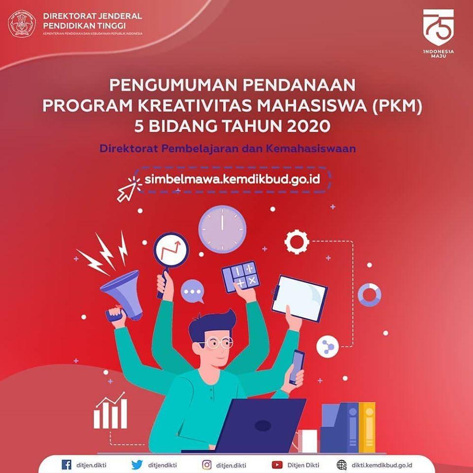 Pengumuman Pendanaan Program Kreativitas Mahasiswa PKM 20 Bidang ...